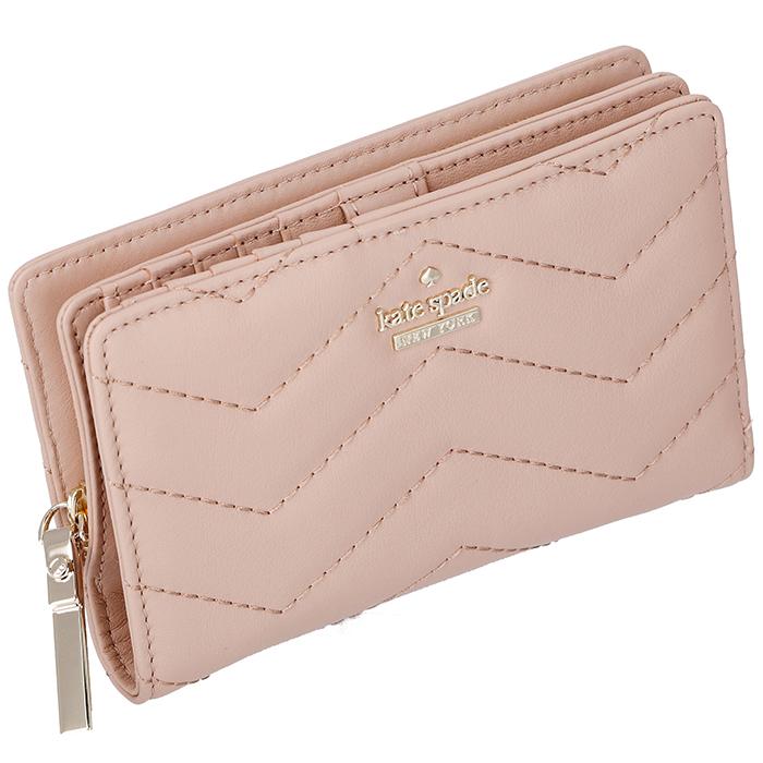 ケイトスペード KATE SPADE 財布 二つ折り ミニ財布 DARA パスケース付き ピンク系 PWRU6631 0028 215
