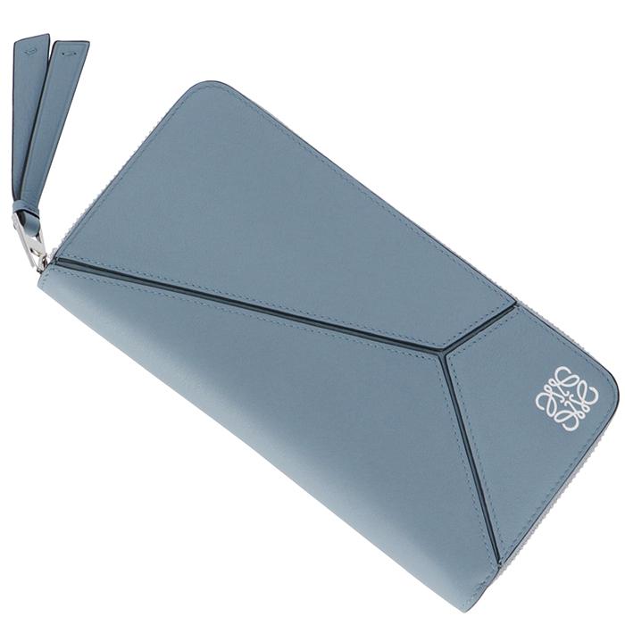 ロエベ LOEWE パズル 財布 レディース zip around wallet 長財布 ラウンドファスナー長財布 ブルー系 122N30F13 0020 5900