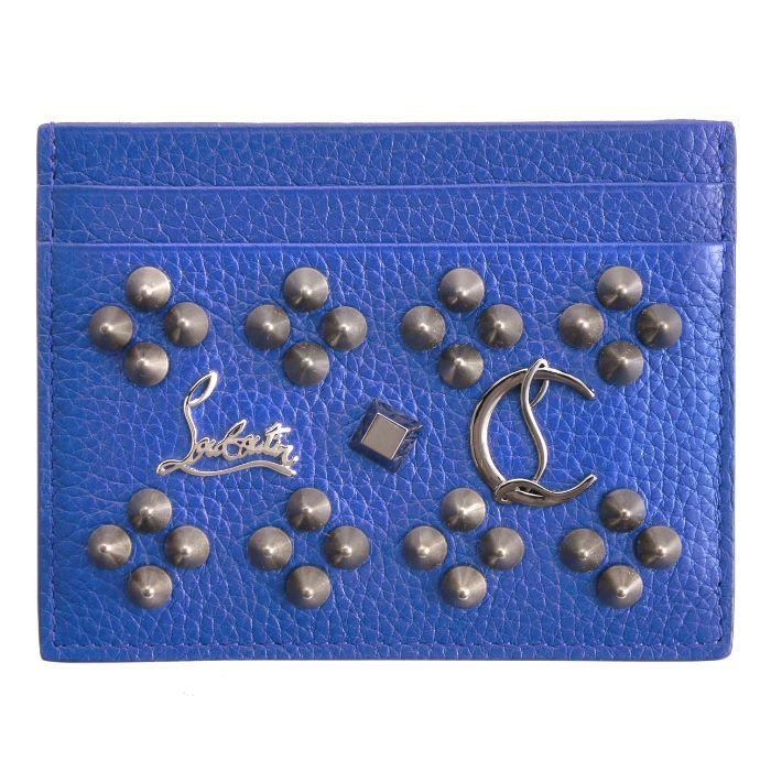 クリスチャンルブタン CHRISTIAN LOUBOUTIN Kios Simple ユニセックス カードケース ブルー系 1175155 0001 U178【AWSALE】
