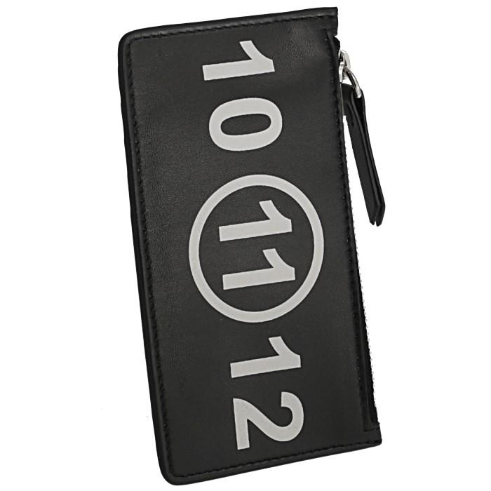 メゾン マルジェラ カードケース ジップ付き財布 カードホルダーコインケース レザー ポケット ブラック BLACK[プレゼント][ギフト][大人気][2019年] メゾン マルジェラ MAISON MARGIELA 2019年秋冬新作 カードケース ジップ付き財布 カードホルダーコインケース レザー ポケット ブラック S56UI0143 PS064 T8013