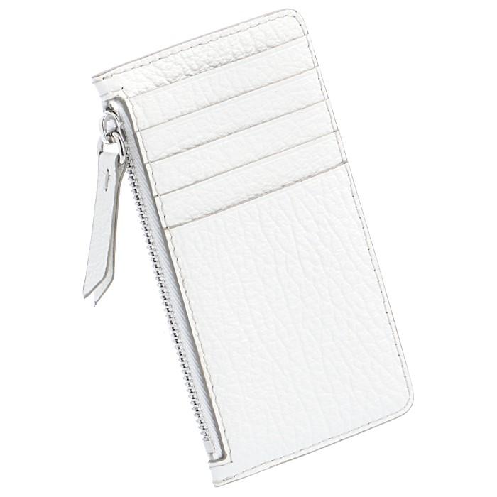 メゾン マルジェラ MAISON MARGIELA カードホルダー&コインケース レザー ポケット付 カードケース ジップ付き財布 ホワイト S56UI0143 P0399 T1003