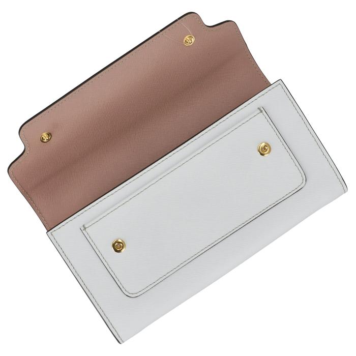 マルニ MARNI長財布 二つ折り サフィアーノ バイカラー ピンク×ホワイト PFMOU01U18 LV520 Z318M 06 SSm08nwvOyN