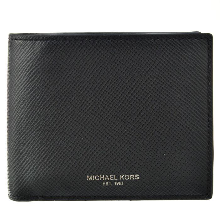 マイケル マイケル コース MICHAEL MICHAEL KORS 2018年秋冬新作 財布 型押しカーフスキン メンズ 二つ折り財布 39F5LHRF3L 0001 001