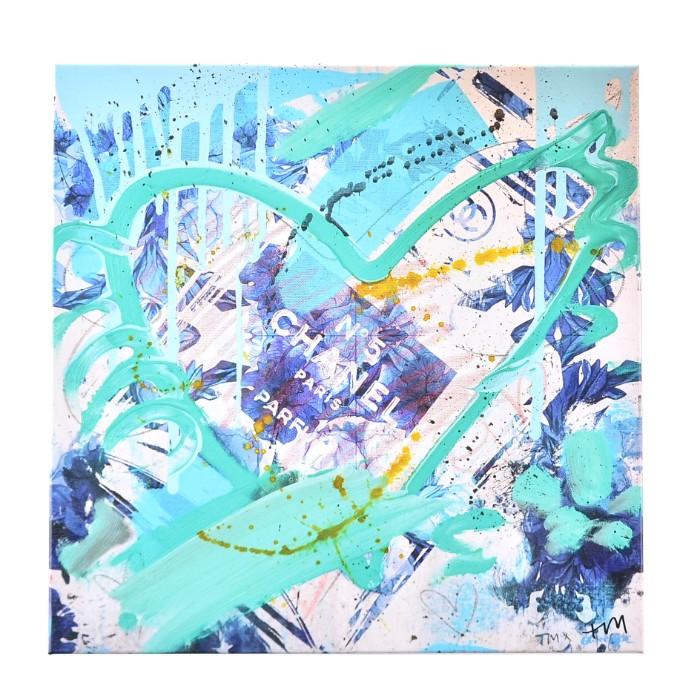 【春夏セール】オリバーガル OLIVER GAL BLUE FLOWER SCENT REMIX アートボード 17472
