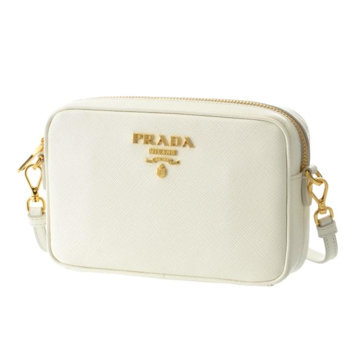 【春夏セール】プラダ PRADA サフィアーノ バッグ 斜めがけ ショルダーバッグ ホワイト系 1BH036OOO NZV 009
