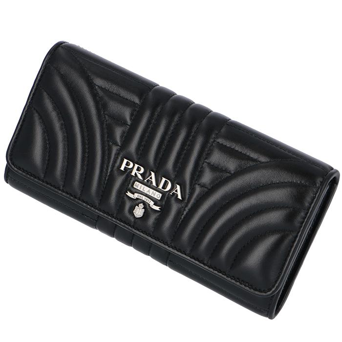 プラダ PRADA 長財布 レディース DIAGRAMME ダイアグラム 二つ折り長財布 ブラック 1MH132 2B0X 002