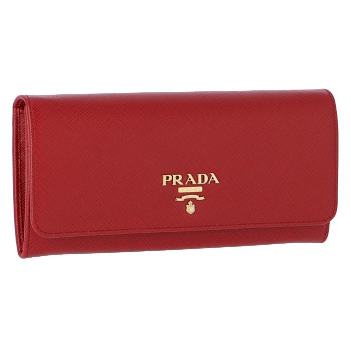 プラダ PRADA 財布 型押しカーフスキン 二つ折り長財布 1MH132 QWA 68Z