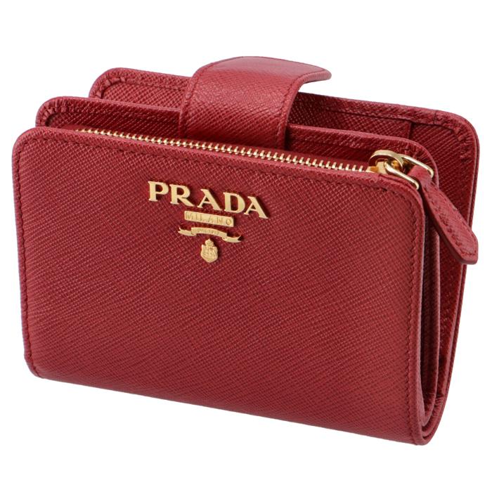 プラダ PRADA 2018年秋冬新作 財布 レディース サフィアーノメタル 二つ折り財布 レッド 1ML018 QWA 68Z
