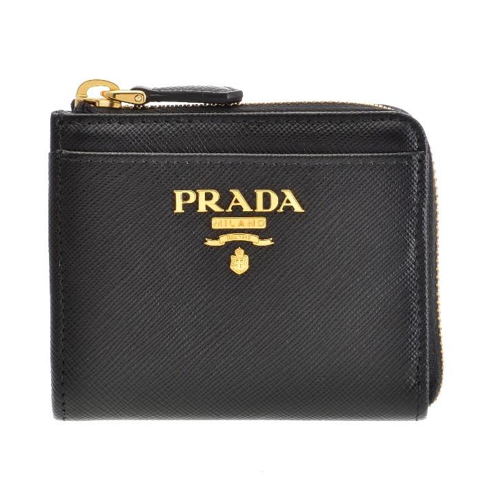 プラダ PRADA 2018年秋冬新作 財布 レディース 小銭入れ サフィアーノメタル コインケース ブラック 1ML025 QWA 002