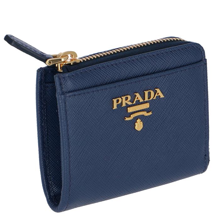 プラダ PRADA 財布 レディース 小銭入れ サフィアーノメタル コインケース ブルー系 1ML025 QWA 016