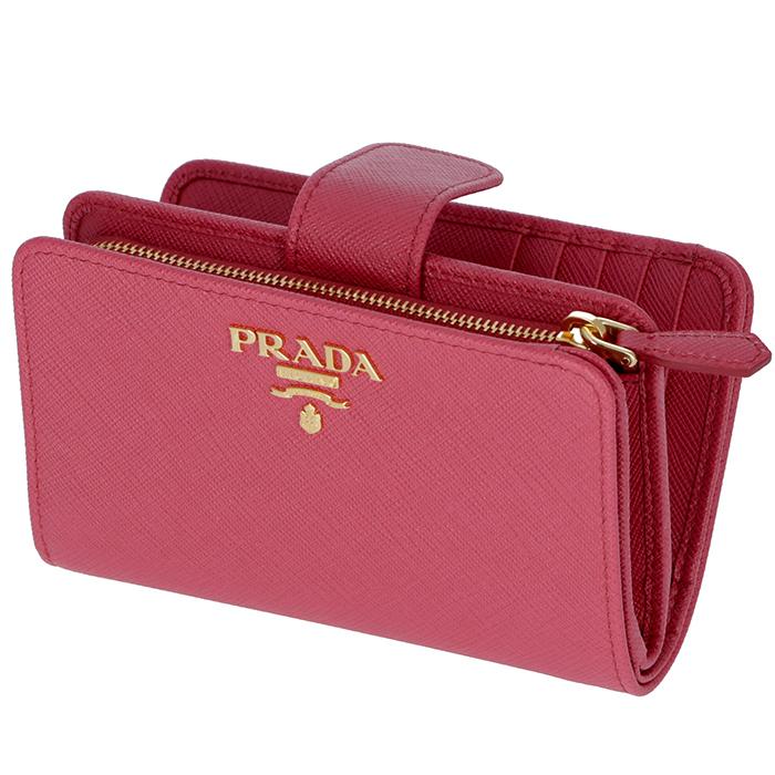 プラダ PRADA 2018年秋冬新作 財布 型押しカーフスキン 二つ折り財布 1ML225 QWA 505