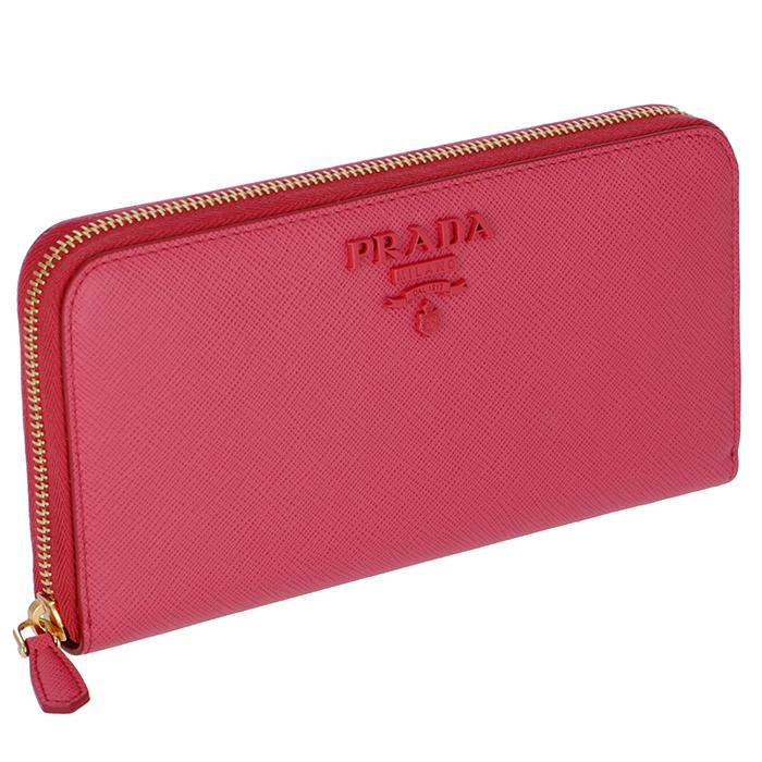 プラダ PRADA 長財布 サフィアーノ 財布 レディース モノクローム ピンク系 1ML506 2EBW 505