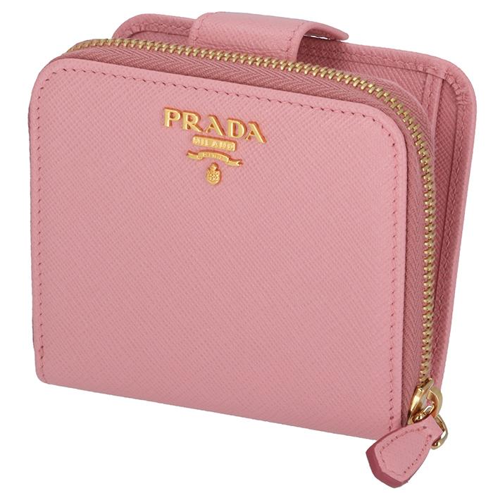 プラダ PRADA サフィアーノ 財布 ミニ財布 二つ折り財布 1ML522 QWA 442[ssmiwa]