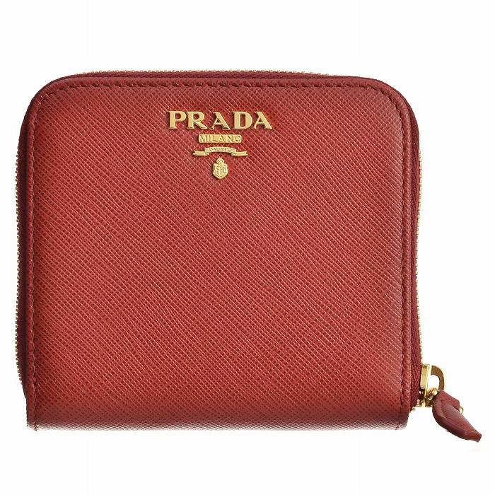 プラダ PRADA 2018年秋冬新作 財布 1ML522 サフィアーノメタル 二つ折り財布 レッド 1ML522 QWA 68Z