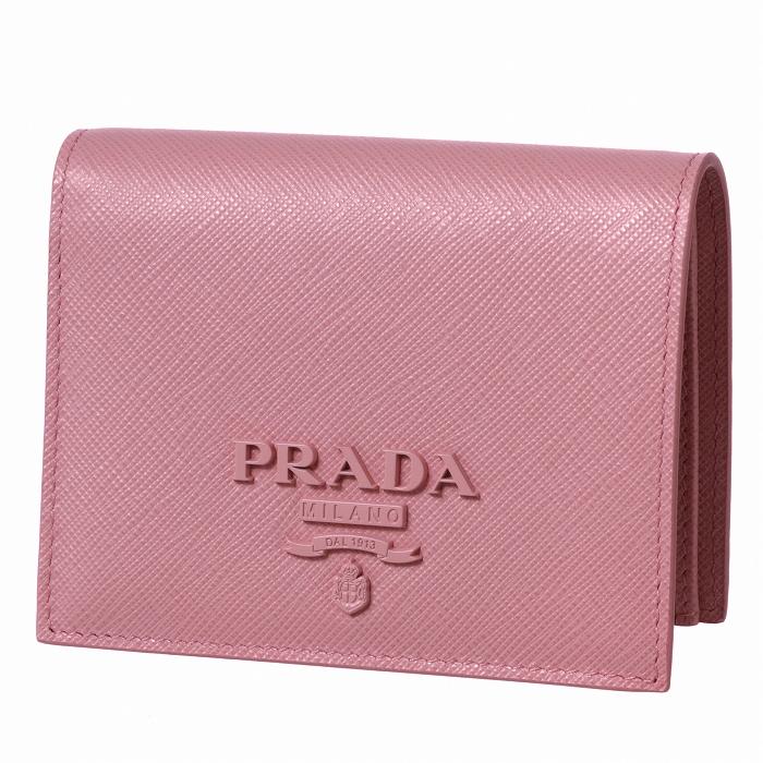 236d02d9d407 プラダPRADA2019年春夏新作財布レディースミニ財布サフィアーノレザー二つ折り財布ピンク