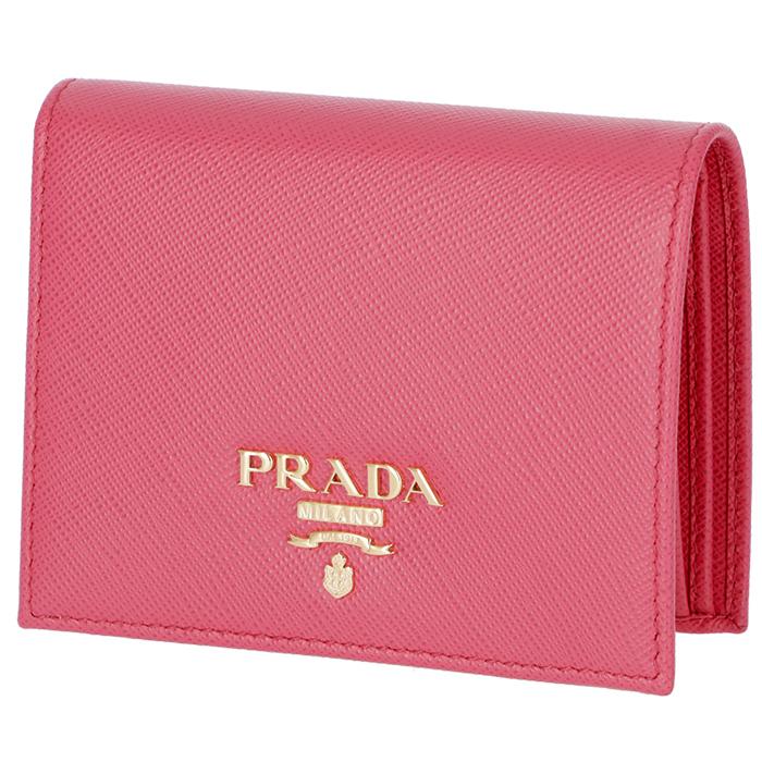 プラダ PRADA レディース ミニ財布 二つ折り財布 ピンク系 1MV204 QWA 505