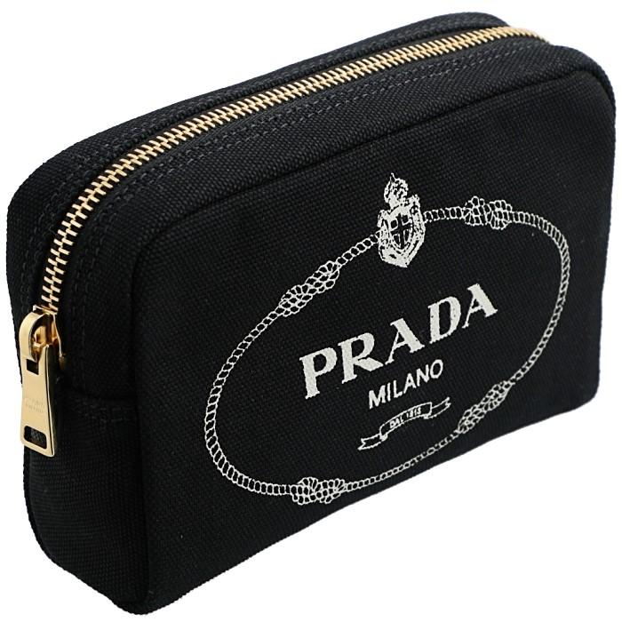 プラダ PRADA 2019年春夏新作 カナパ ポーチ キャンバス ブラック 1NA021 20L N12