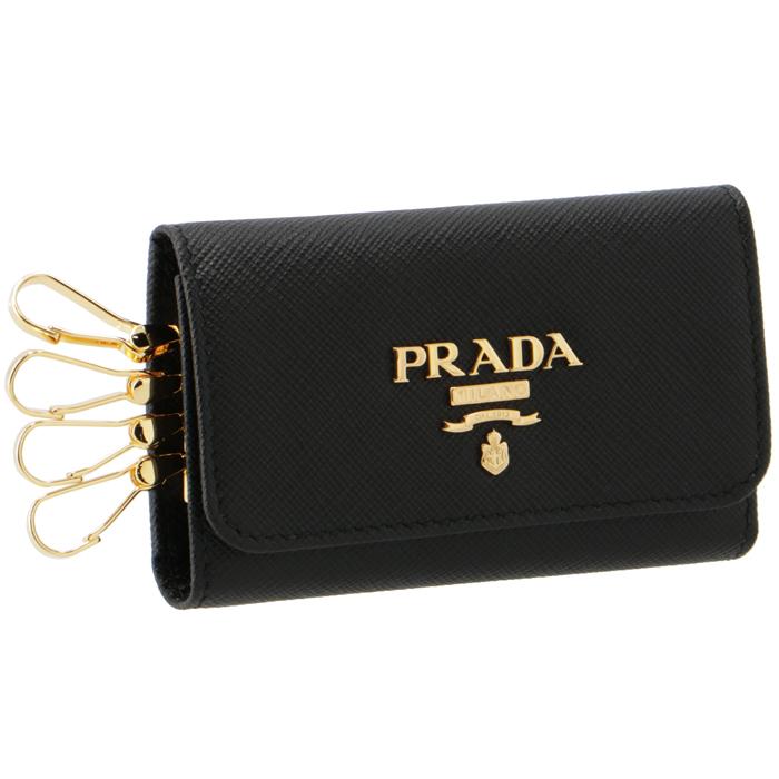 プラダ キーケース 4連 レディース サフィアーノ ブラック NERO プレゼント ギフト 本物 大人気 1:59 PRADA 全品送料無料 ポイント5倍 11 10~9 QWA 002 1PG004 9