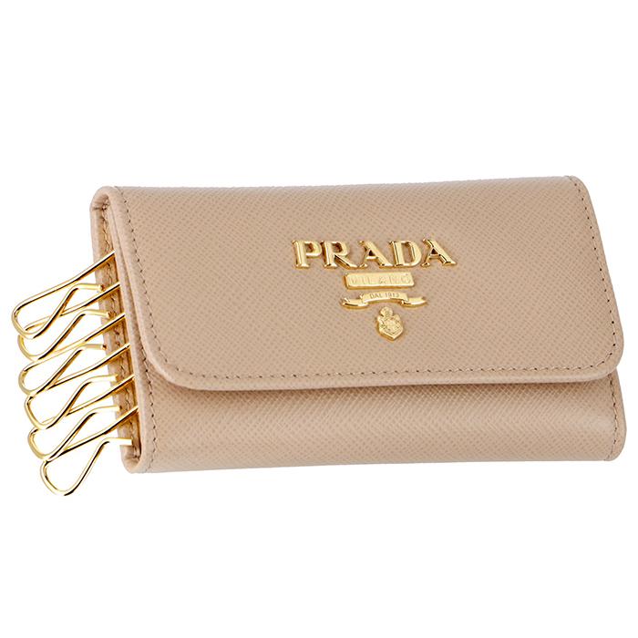 プラダ PRADA レディース サフィアーノメタル 6連キーケース ピンクベージュ系 1PG222 QWA 236