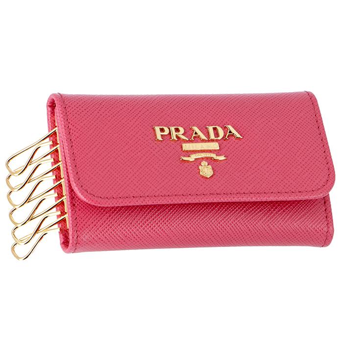 プラダ PRADA 6連キーケース ピンク系 1PG222 QWA 505