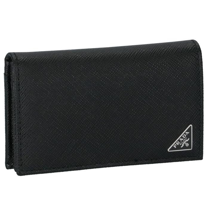 プラダ PRADA メンズ カードケース 名刺入れ サフィアーノ ブラック 2MC122 QHH 002