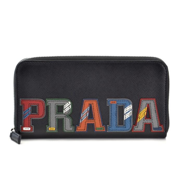 【春夏セール】プラダ PRADA ブラック系 マルチカラー メンズ ラウンドファスナー長財布 ブラック系 マルチカラー 2ML317 2EC4 SGI