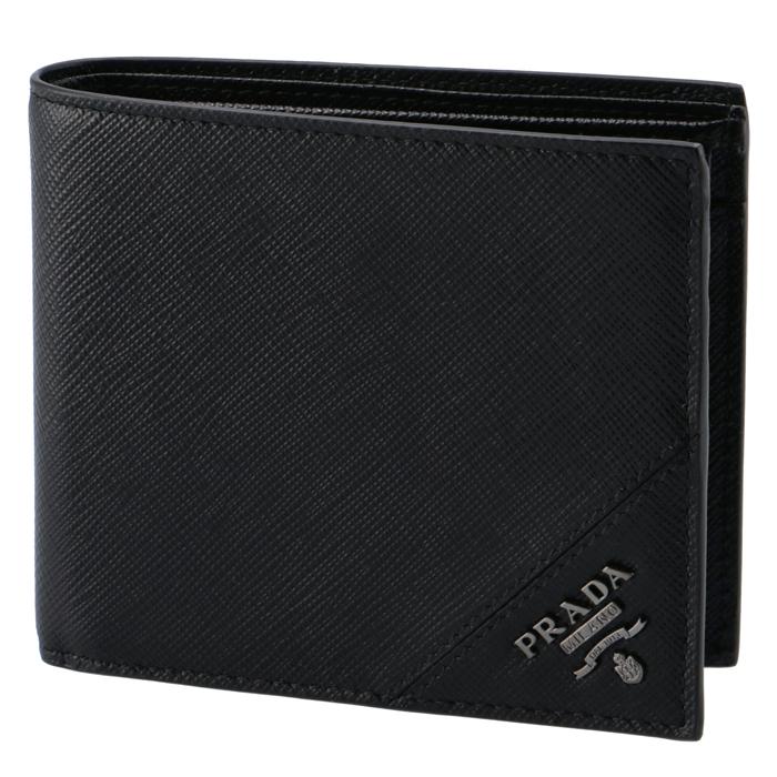 プラダ PRADA 2018年秋冬新作 財布 型押しカーフスキン メンズ 二つ折り財布 2MO738 QME 002