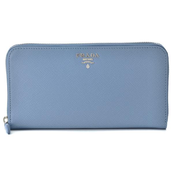 プラダ PRADA 財布 型押しカーフスキン ラウンドファスナー長財布 1ML506 QWA PN2