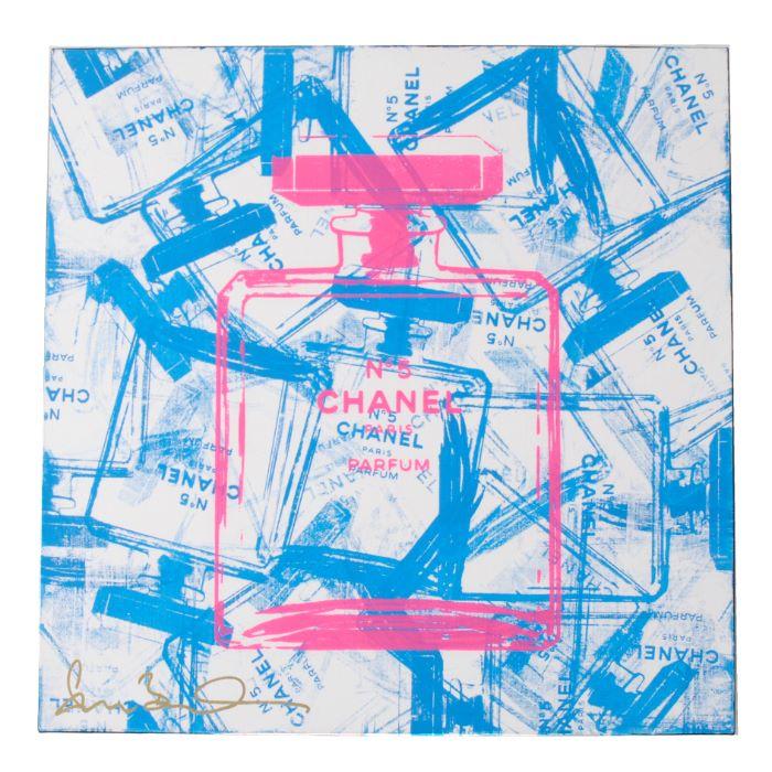 【春夏セール】【送料無料】シェーンボーデン SHANE BOWDEN BLUE BOTTLE OF CHANEL アートボード C19