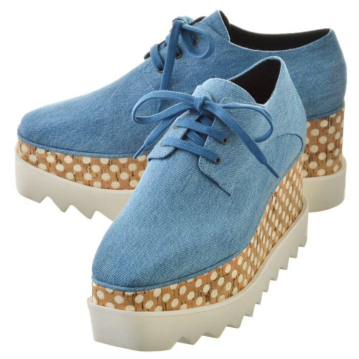 【春夏セール】ステラマッカートニー STELLA MCCARTNEY ELYSE エリーズ シューズ 靴 スニーカー ブルーデニム 453638 W1A40 4910
