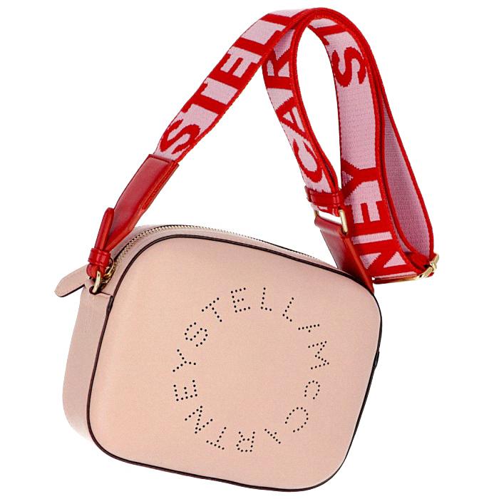 ステラマッカートニー STELLA MCCARTNEY 2019年春夏新作 ロゴ ショルダーバッグ MINI CAMERA BAG ピンク系 557907 W9923 6553