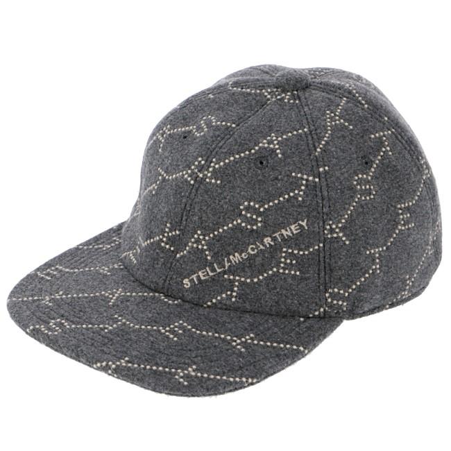 ステラマッカートニー STELLA MCCARTNEY 2019年秋冬新作 ロゴモノグラム ベースボールキャップ 帽子 グレー系 558052 W8556 1165