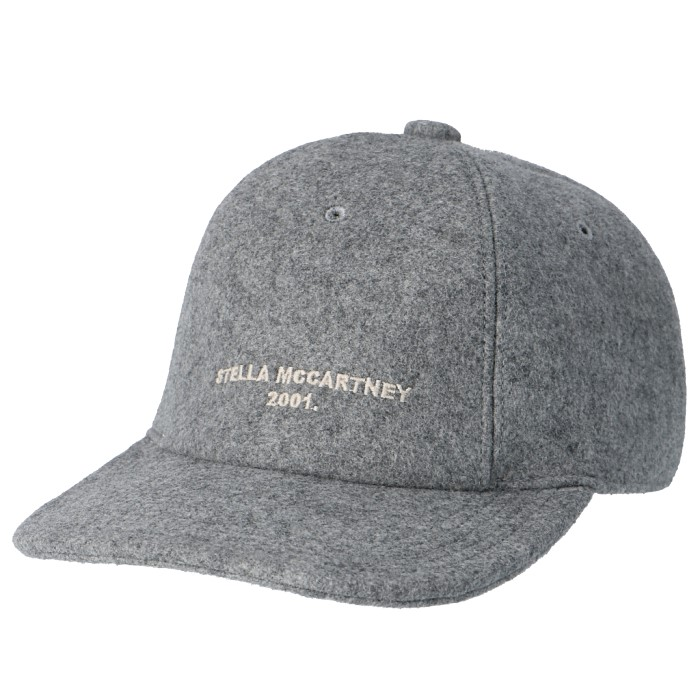 ステラマッカートニー STELLA MCCARTNEY 2019年秋冬新作 ウール ベースボールキャップ 帽子 グレー 570194 W9109 1030