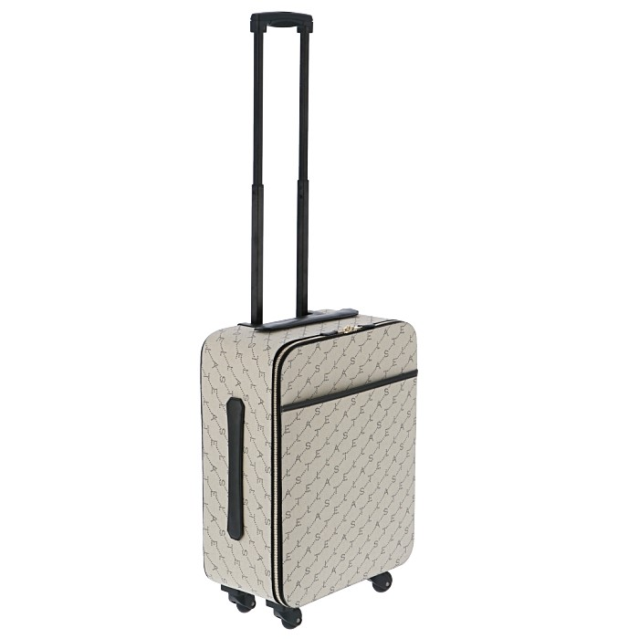 ステラマッカートニー STELLA MCCARTNEY ロゴプリント スーツケース キャリーケース 旅行 トラベルバッグ 機内持ち込み サンド ベージュ系 581299 W8437 9740