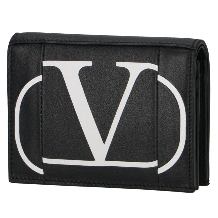 ヴァレンティノ・ガラヴァーニ VALENTINO GARAVANI 2020年春夏新作 財布 二つ折り ロゴ ミニ財布 ブラック TW2P0P39 KZQ NER