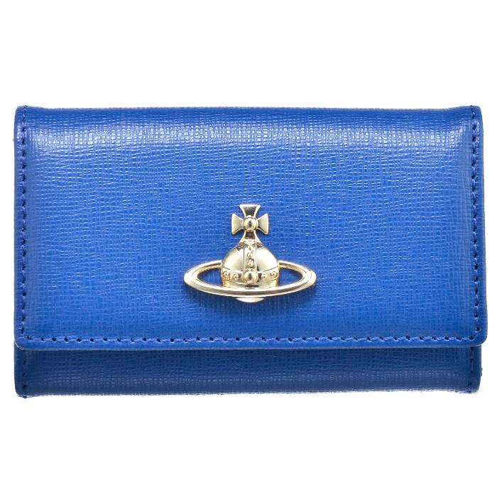 ヴィヴィアン ウエストウッド VIVIENNE WESTWOOD saffiano 6連キーケース ブルー系 51020001 0016 0044