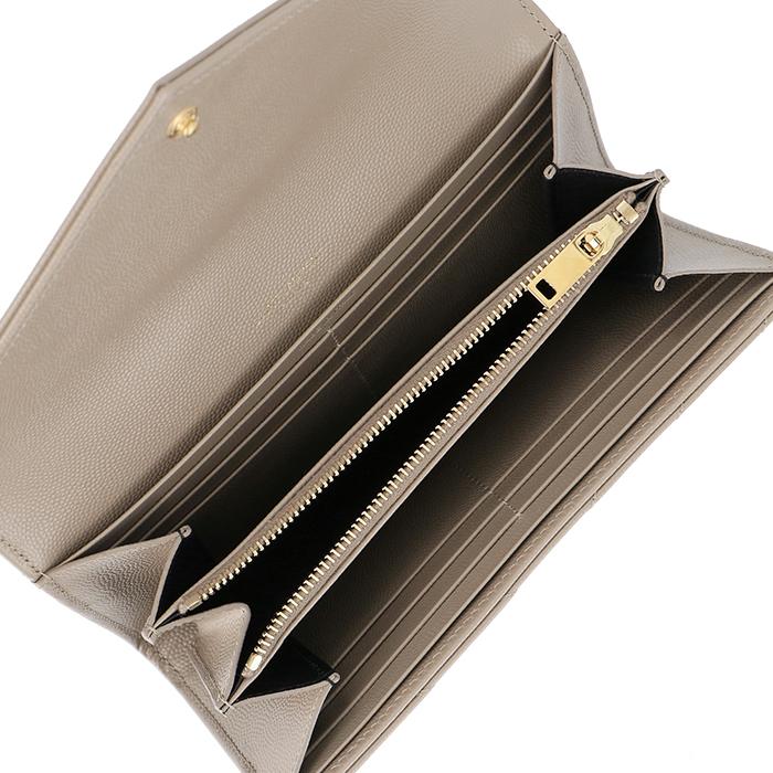 サンローラン パリ SAINT LAURENT PARIS財布 レディース キルティングレザー 二つ折り 長財布 モノグラム MONOGRAMME ベージュ系 372264 BOW01 1722TlK13FcJ