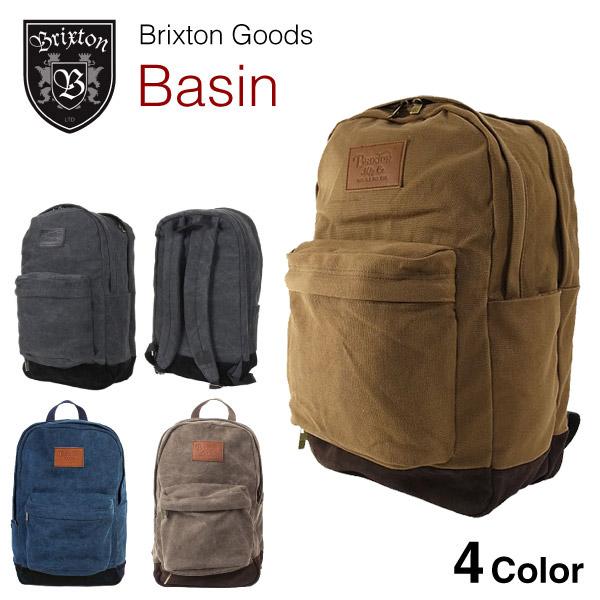 ブリクストン ベイシン コットンキャンバス バックパック (Brixton BASIN COTTON CANVAS BAG BACKPACK リュックサック)