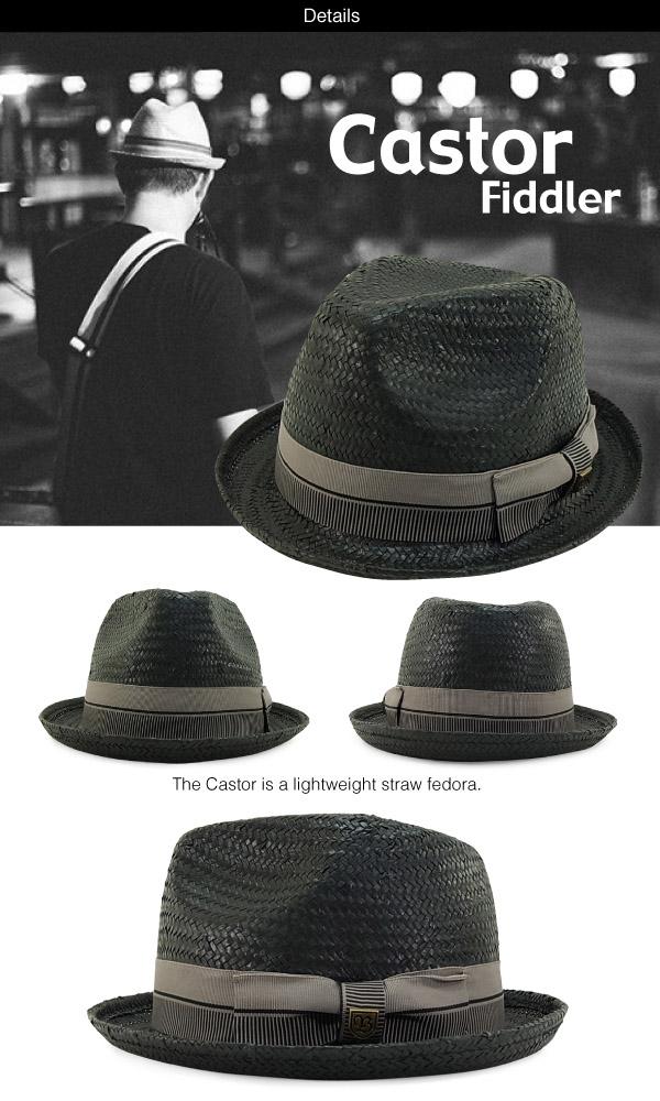 cc86172a5ebda2 ... Brixton Castor Straw Hat Black / taupe (Brixton Castor Boater) ...
