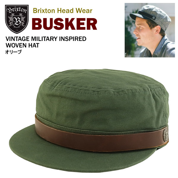 Brixton bus car vintage military in spy ad hat olive (Brixton BUSKER work  cap) 6a85e6d26b5