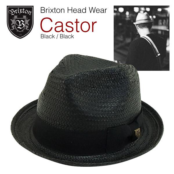 amb  Brixton Castor Straw Hat Black   Black (a Boater Brixton Castor ... 4334ecd88e2