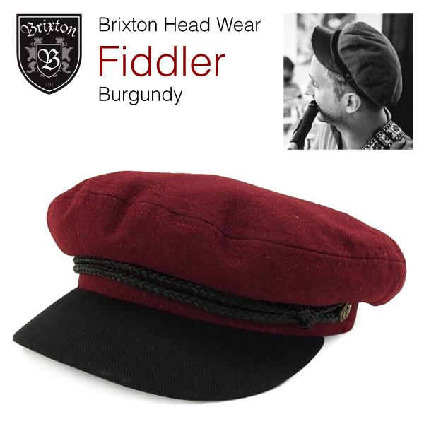 8445bd71b5a6c amb  Brixton Fiddler fisherman inspired war vent Cap Burgundy ...