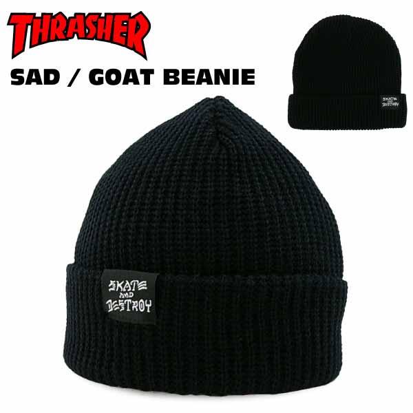 86d2ffef6c0 amb  Thrasher skating and destroy   goat Beanie black Skate skater ...