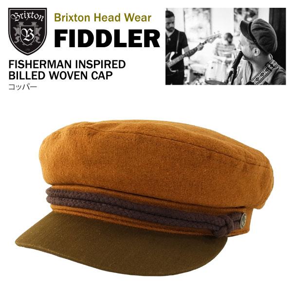 ブリクストン フィドラー フィッシャーマン インスパイアド ウォーヴン キャップ コッパーBrixton FIDDLER FISHERMAN INSPIRED BILLED WOVEN CAPあす楽対応楽ギフ 包装あす楽 土曜営業5c4qjL3AR