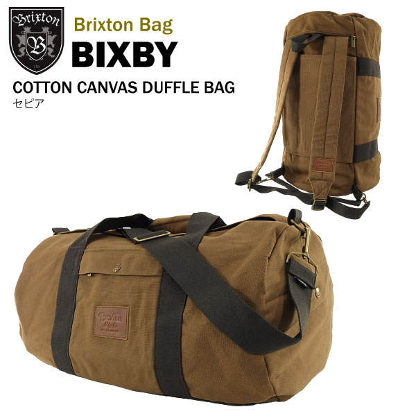 amb  Brixton Bixby cotton canvas duffle bag and backpack 2-WAY bag ... b0f6d79e60d