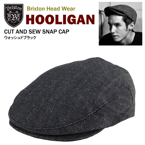 amb  Brixton hooligan Hat washed black (Brixton HOOLIGAN HAT hunting ... 4bde0ab48b0