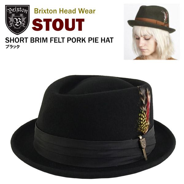 Brixton Mens Stout Short Brim Pork Pie Felt Fedora