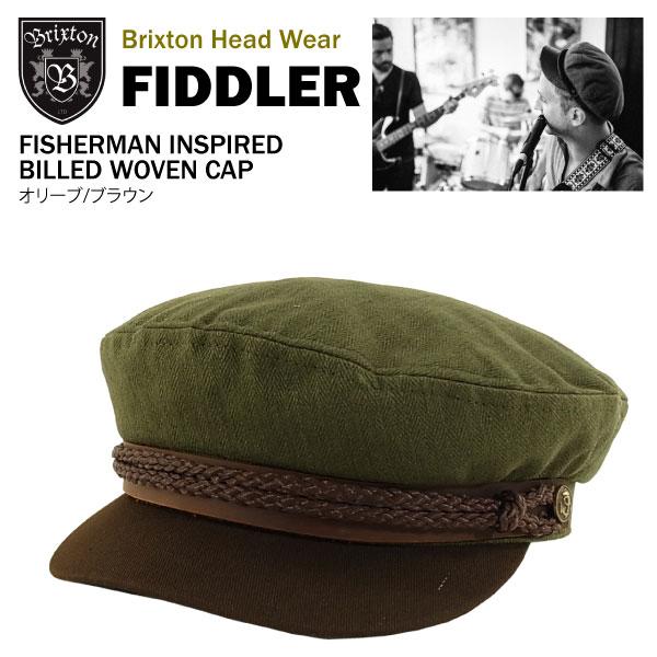 1a5fc34e187f4 amb  Brixton Fiddler cut  amp amp  saw fisherman Cap olive   brown ...