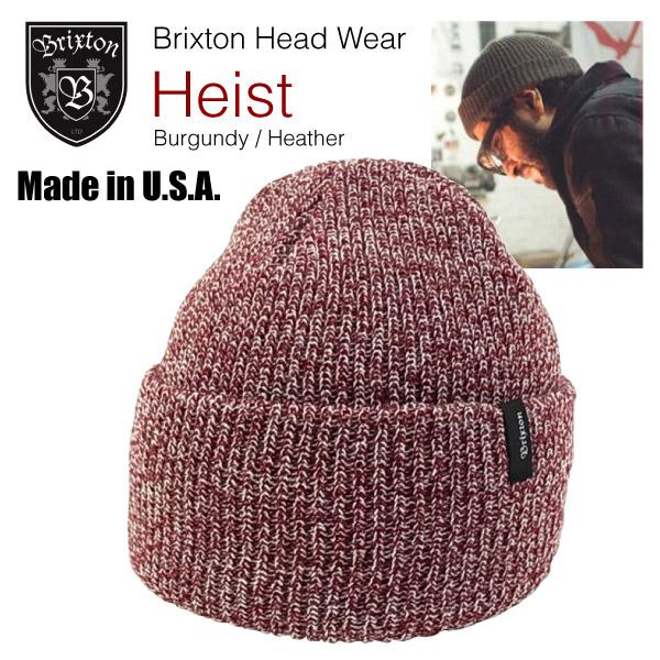 406d6342a722a amb  Brixton heist knit Cap Burgundy   Heather (Brixton HEIST Beanie ...