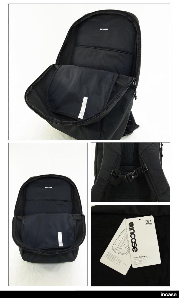 인 케이스 카고 백 팩 블랙/블랙 CL55542 (INCASE CARGO BACKPACK 백 팩 데이 가방・배낭 15 인치 노트 PC・MACBOOK 수납가능)